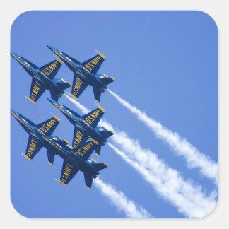 Blue Angels flyby during 2006 Fleet Week Square Sticker