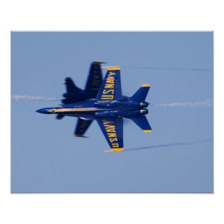 Blue Angels perform knife-edge pass during 2006 Poster
