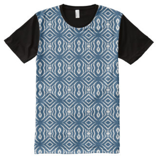 Blue Animal Pattern#14a American Apparel Buy Sale All-Over-Print T-Shirt