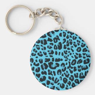 Blue animal print keychain