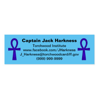 Blue Ankh Profile Card Mini Business Card