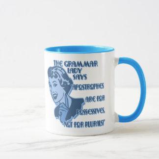 Blue Apostrophes Mugs