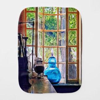 Blue Apothecary Bottle Burp Cloth