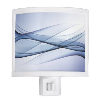 Blue Aqua Abstract Night Light