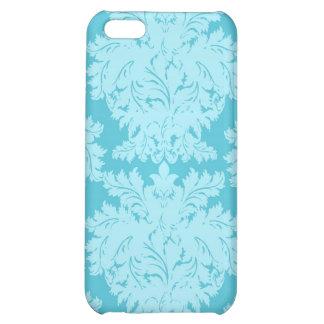Blue Aqua Damask i Cover For iPhone 5C