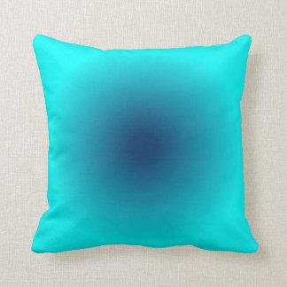 Blue Aqua Gradient Throw Pillow