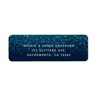 Blue Aqua Navy Glitter Sparkle Modern Party