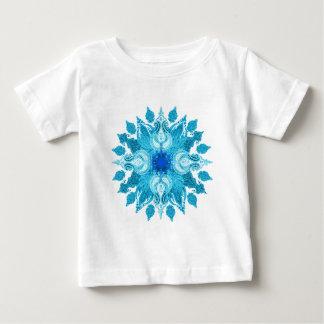 Blue aqua paisley sun mandala baby T-Shirt