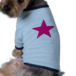Blue Aqua Pink Hot Baby Light Dark Star Pentagram Pet T-shirt