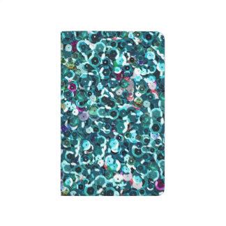 Blue Aqua Sequin Sparkles All Over Print Journal