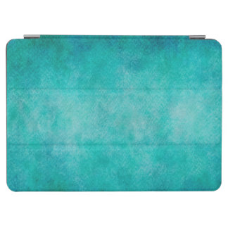 Blue Aqua Teal Watercolor Paper Colorful Texture iPad Air Cover