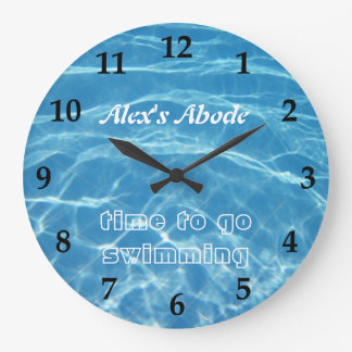 Blue Aquatic Fresh Pool Water Swimming Clear Cool Wall Clock