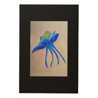Blue Aquilegia Wood Canvases
