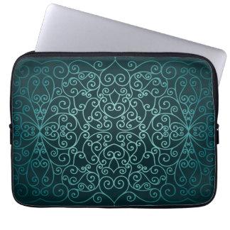 Blue Arabic ornamental pattern Laptop Sleeve