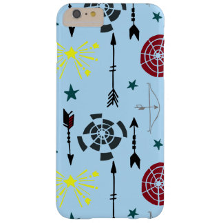Blue Archery Bows Arrows and Targets Barely There iPhone 6 Plus Case