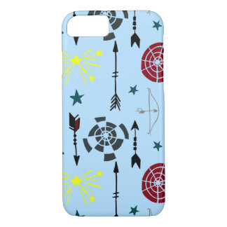 Blue Archery Bows Arrows and Targets iPhone 7 Case
