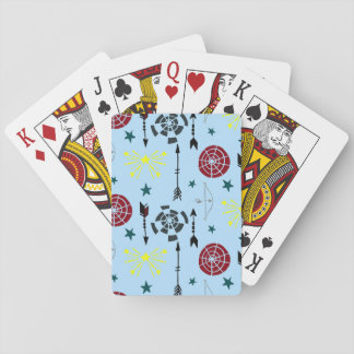 Blue Archery Bows Arrows and Targets Playing Cards