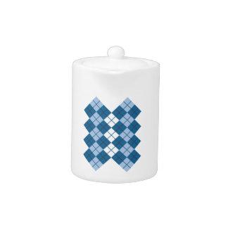 Blue Argyle Design