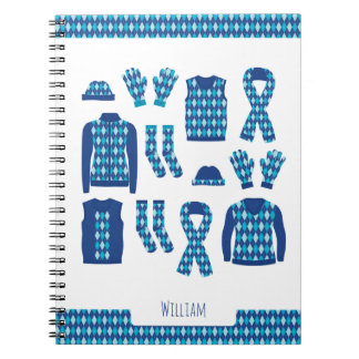Blue Argyle Items Photo Notebook