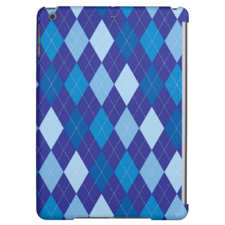 Blue argyle pattern iPad air cases