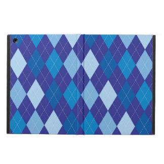 Blue argyle pattern iPad air cover