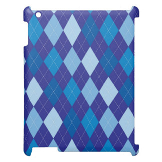 Blue argyle pattern iPad case