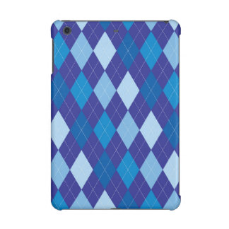 Blue argyle pattern iPad mini cover