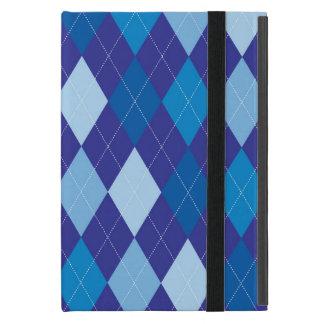 Blue argyle pattern iPad mini cover