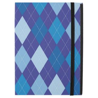 "Blue argyle pattern iPad pro 12.9"" case"