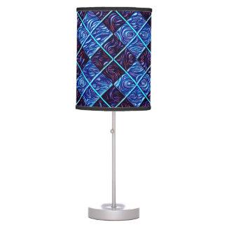 BLUE ARGYLE TABLE LAMP
