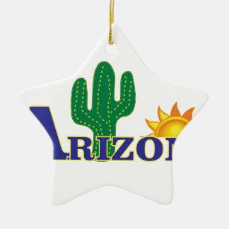 blue arizona ceramic ornament