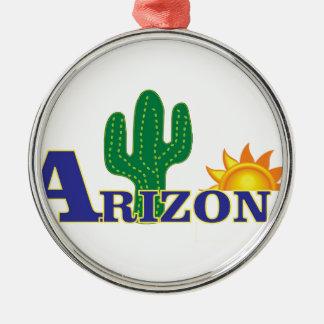 blue arizona metal ornament