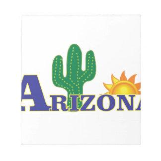 blue arizona notepad