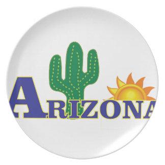 blue arizona plate