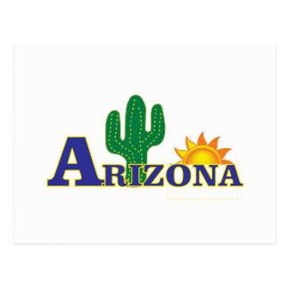 blue arizona postcard