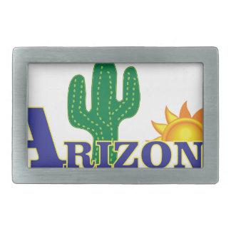 blue arizona rectangular belt buckle