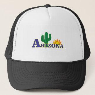 blue arizona trucker hat
