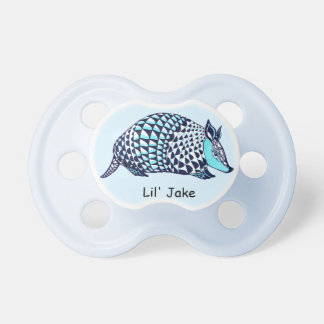 blue armadillo pacifier
