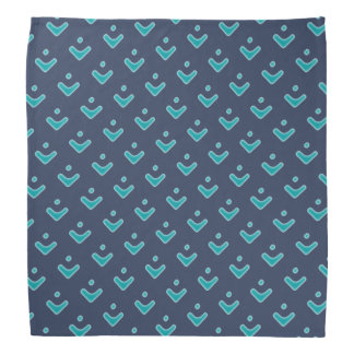 Blue Arrow Pattern Bandana