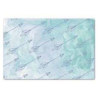 Blue Arrow Watercolor Tissue Paper