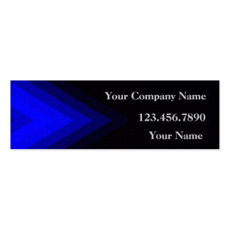 Blue Arrows and Black Profile Card Double-Sided Mini Business Cards (Pack Of 20)