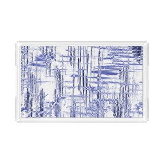 Blue Art Deco Acrylic Tray