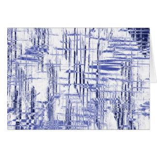 Blue Art Deco Card