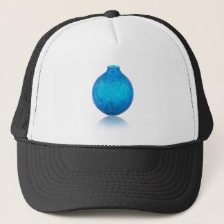 Blue Art Deco glass etched vase. . Trucker Hat