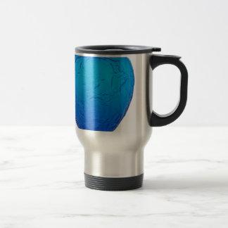 Blue Art Deco glass vase with birds. Travel Mug