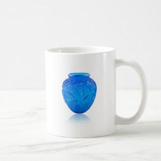 Blue Art Deco glass vase with grasshopper design. Coffee Mug