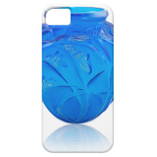 Blue Art Deco glass vase with grasshopper design. iPhone 5 Cases