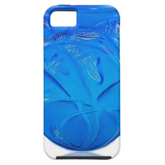 Blue Art Deco glass vase with grasshopper design. iPhone 5 Cover