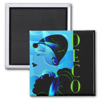 Blue Art Deco Magnet