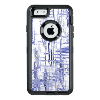 Blue Art Deco OtterBox Defender iPhone Case